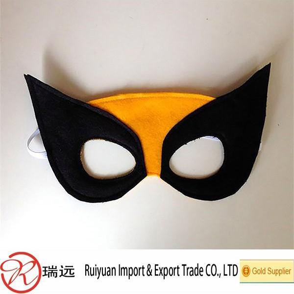 China Supplier Laser Cut Super Hero Felt Face Mask Ideal For Kids ...