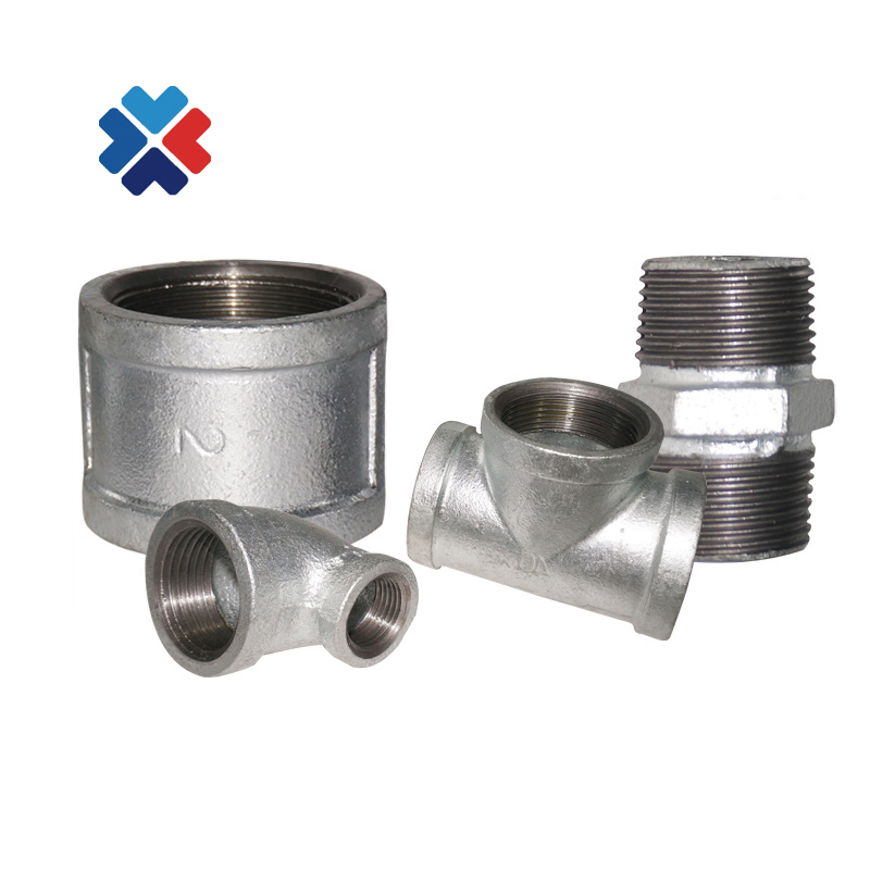 best price <strong>manufacturer</strong> reducing cross cast iron malleable equal tee white male &amp; female elbow fire fighting pipe fitting