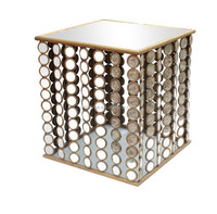 metal vintage style glass magazine end table