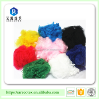 most available colores with lowest MOQ-China Manufacturer dope dyed polyester staple fiber