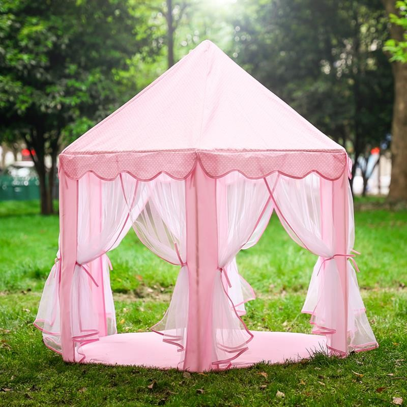 Child Playhouse Kids Pink Princess Play Castle Tent House for Girls & Child Playhouse Kids Pink Princess Play Castle Tent House For ...