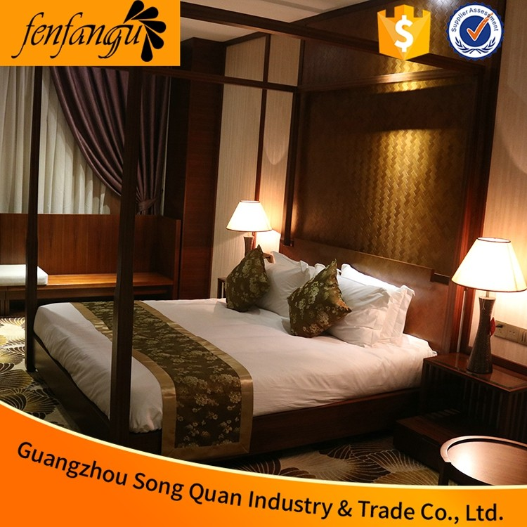 Wholesale 50% Cotton 50% Polyester Hotel Bed Linens/Bedding sets