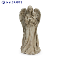 Angel Holding Baby Resin Decorative Indoor Outdoor Garden Statue Figurine