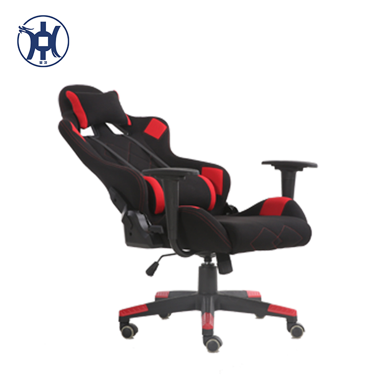 durable lift vibrating computer gaming chair with fabric chair cover