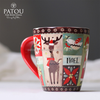 Cheap bulk christmas gift ceramic coffee cups liling new bone china mugs & Cheap Bulk Christmas Gift Ceramic Coffee Cups Liling New Bone China ...