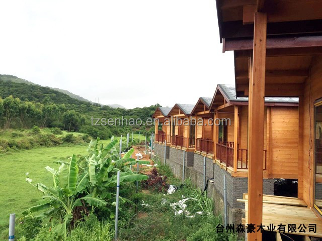Exceptional Low Cost Prefabricated Wooden House/villa With Terrace Wood House