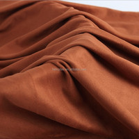 polyester 50D 75D printed suede fabric embossed suede for fashion women garment sofa fabric textile
