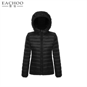 2018 Women Winter Light Down Jacket Quilted Hooded Coats
