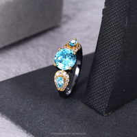 Jewelry Fashion Jewelry, New Design Rhodium Plated Finger Ring JWZ2236TB