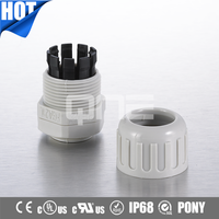Newest CE ROHS Superb Pullout Strength Corrugated Tubing Fitting With IP65