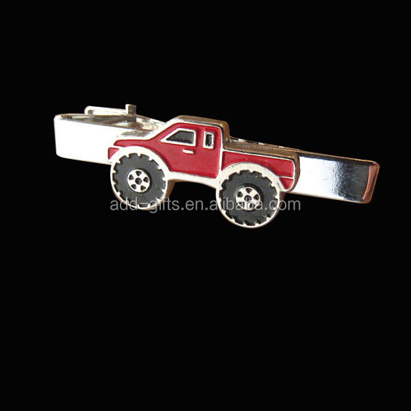 Hot fashion car tie tacks, silver plated with soft enamel for gifts and collectible