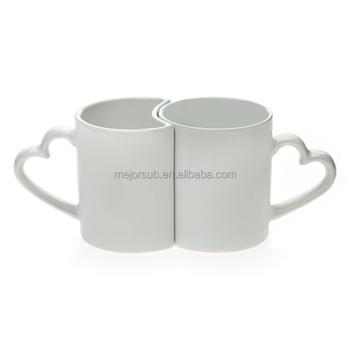 New Product Blank Ceramic Sublimation Mugs Pair Mugs For Photo Printing -  Buy Blank Ceramic Sublimation Mugs,Sublimation White Coated Custom 12oz  Cafe