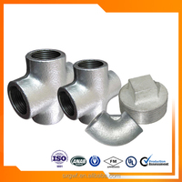 Low price malleable pipe fitting 1/2 inch galvanized Cross