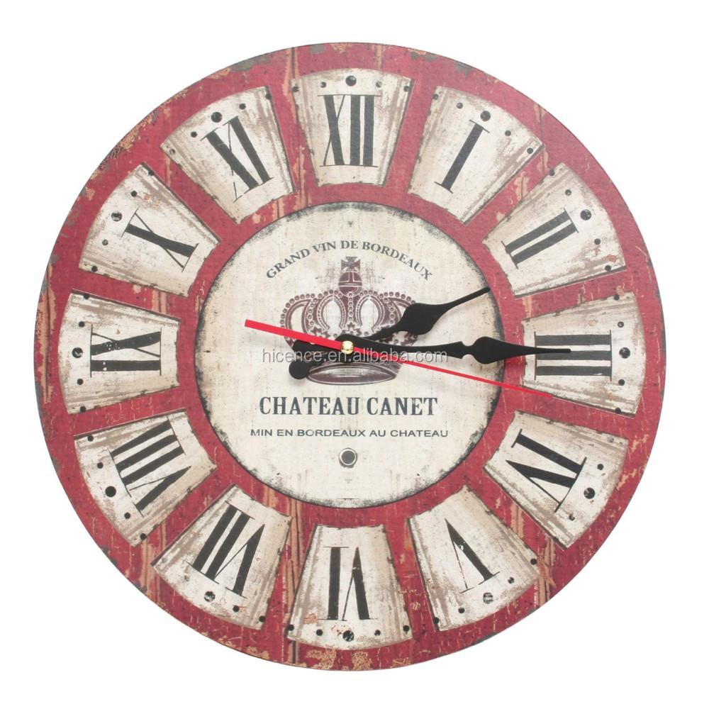 Home Goods Clocks: 2017 Hot Sale Large Wall Clock Modern Design Wooden