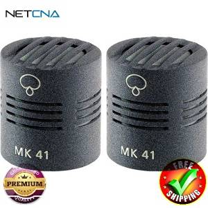 MK 41 Microphone Capsule (Matched Pair, Matte Gray) With Free 6 Feet NETCNA HDMI Cable - BY NETCNA