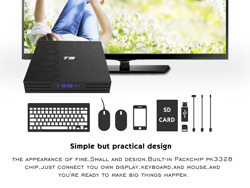 Newest Model T9 Rk3328 Android 8 1 4gb Ram 32gb Rom With Digital Display  The Latest Smart Android Tv Box - Buy New Model T9 Android Tv Box,4gb Ram