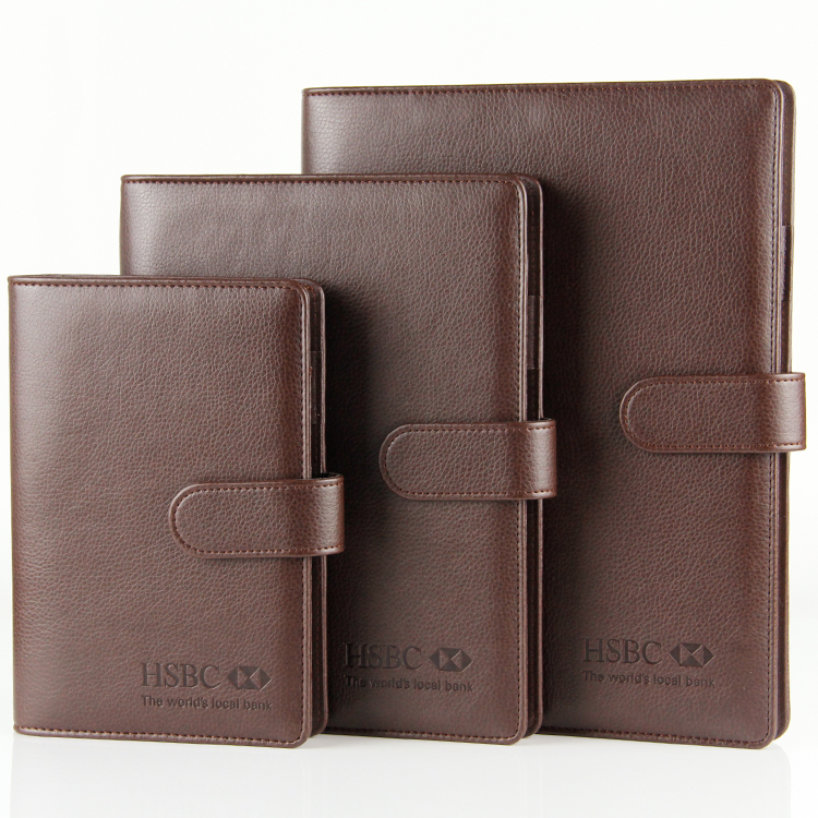 Wholesale china A5 leather cover loose leaf binding notebook with magnetic snap