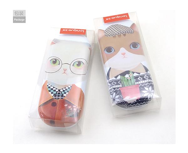 Languo Cute Kitty Cat Design Eyeglasses Cases/lens Case