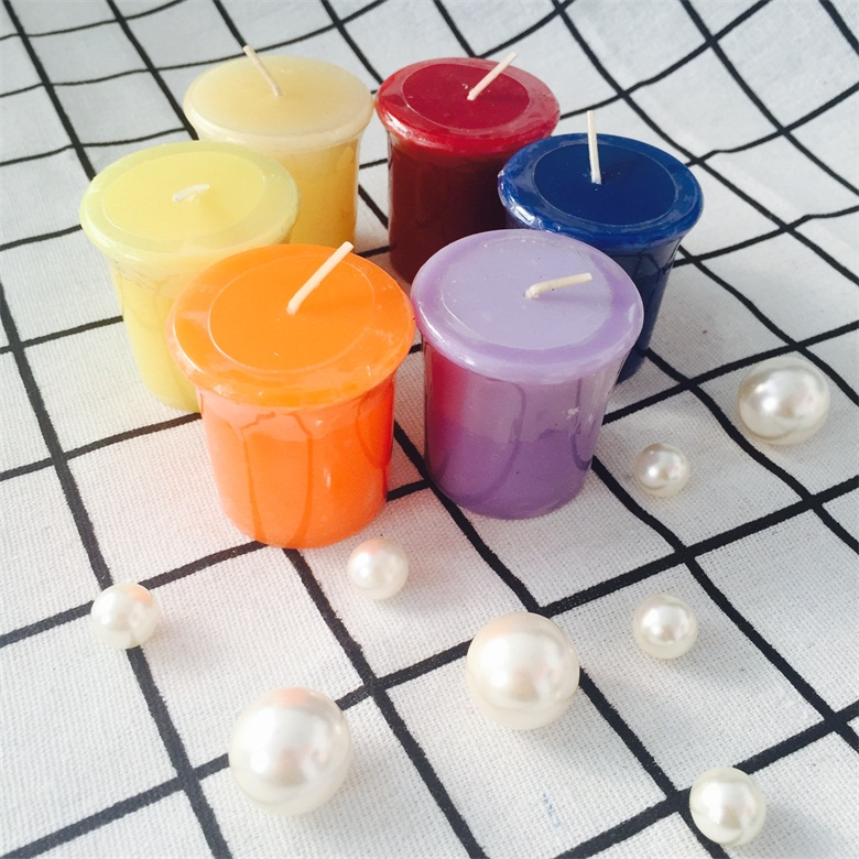 Multi Colored High Quality Retailer Of Decoration Paraffin Wax Votive Candles
