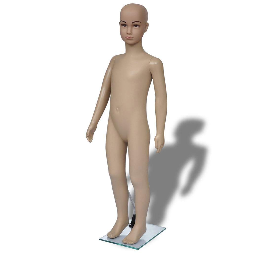 Base included. Fiberglass construction MD-509F ROXYDISPLAY/™ Children mannequin with moulded hair