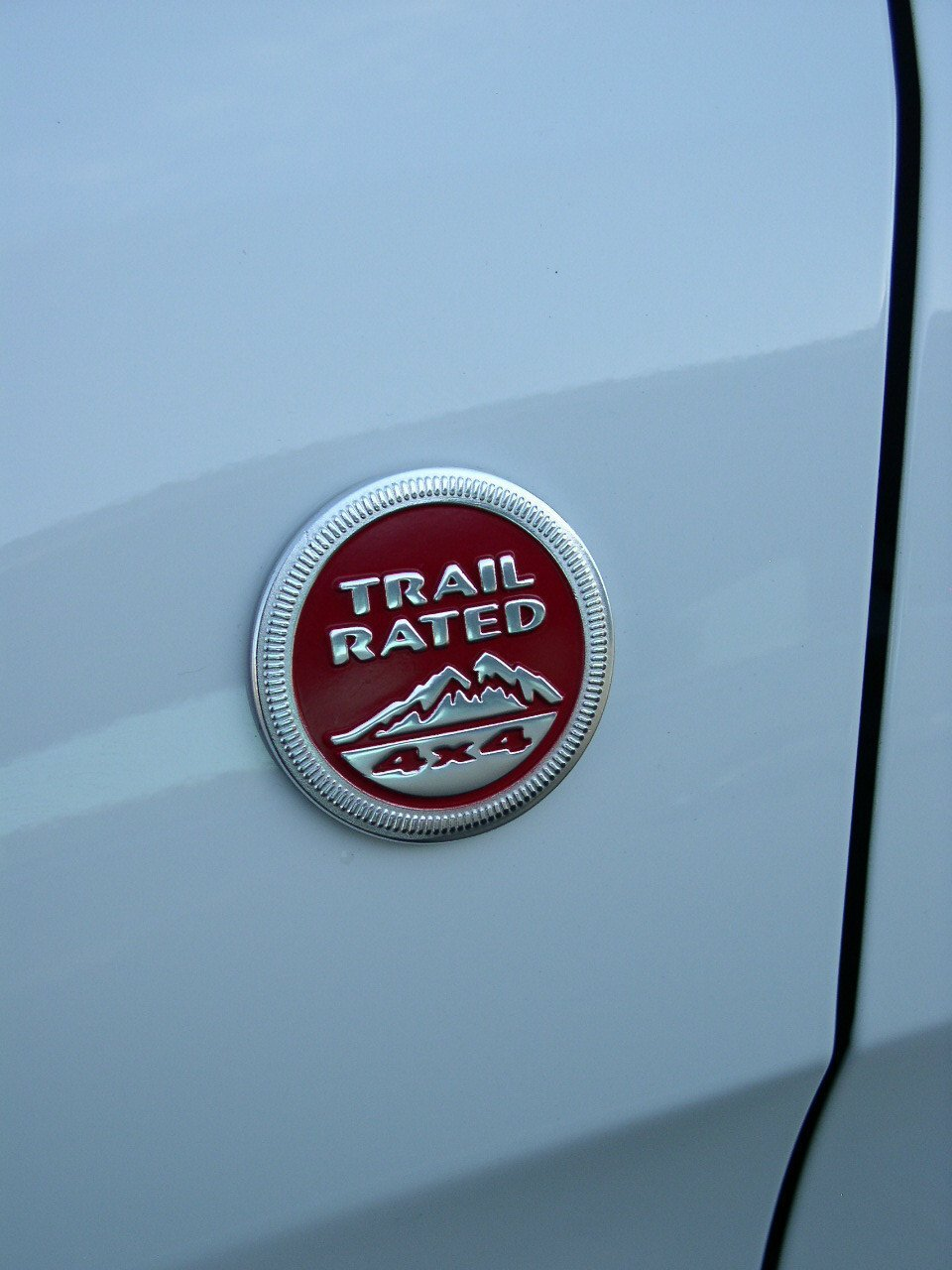 Jeep Grand Cherokee 2013 trail rated 4X4 badge logo nameplate trailhawk red OEM
