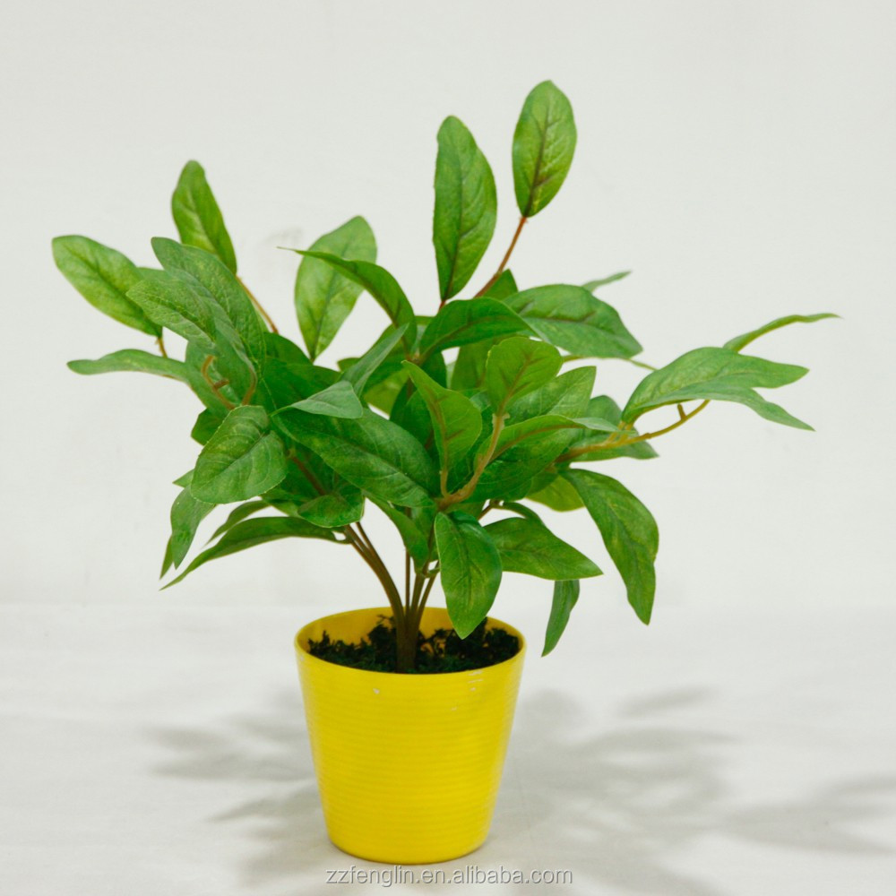 high quality indoor decorative mini cheap artificial ivy leaves bunch leaves bush wholesale