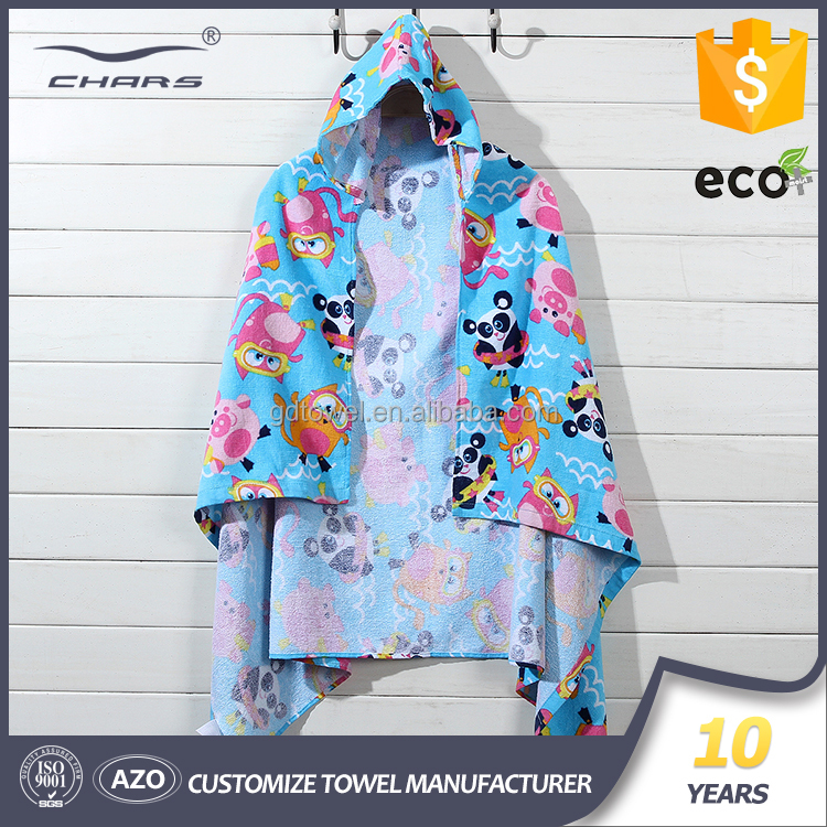 bulk wholesale best quality quick-dry 100% cotton hooded poncho towel beach kids poncho towel surf for baby