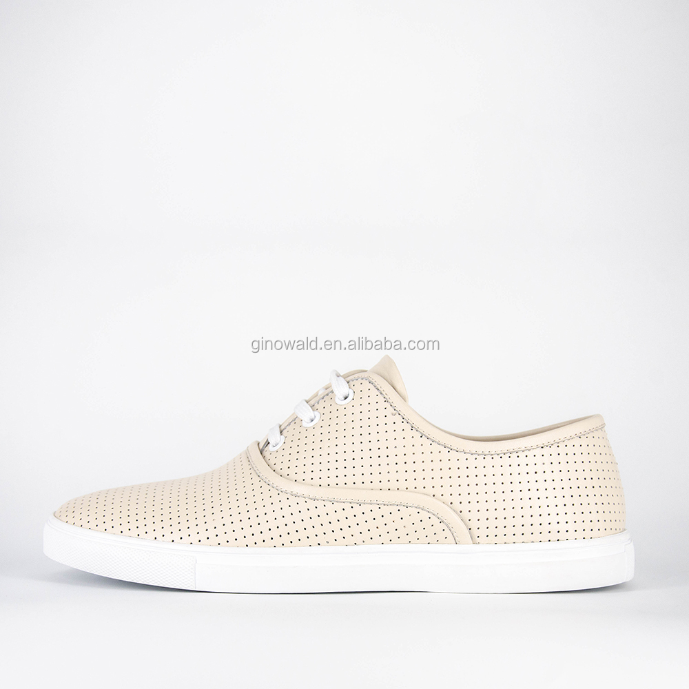 sneakers white shoes leather design Latest soft beige men real for vEcYqO