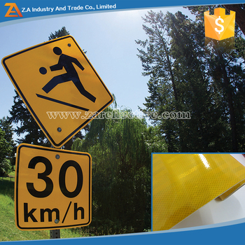 3m self adhesive vinyl pet sign board stickers yellow reflective road marking tape