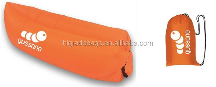 Outdoor Inflatable Air Lounger bed, inflatable sleeping bag, beach bag