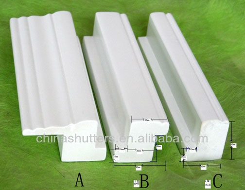 white wood /PVC window shutters with hinges