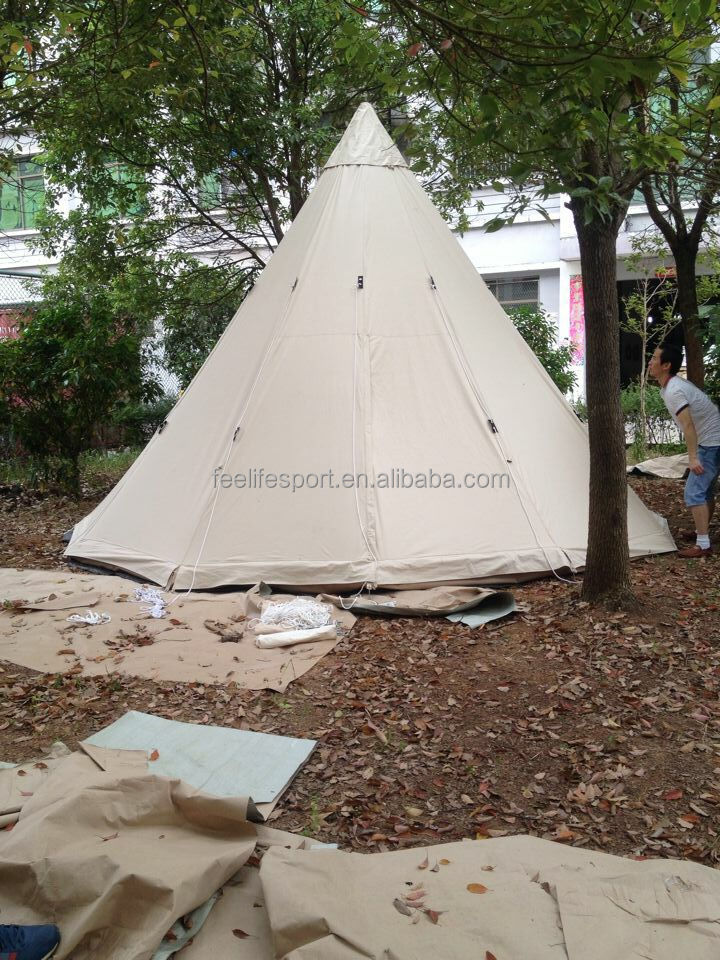 100% cotton canvas 4M Indian teepee tent