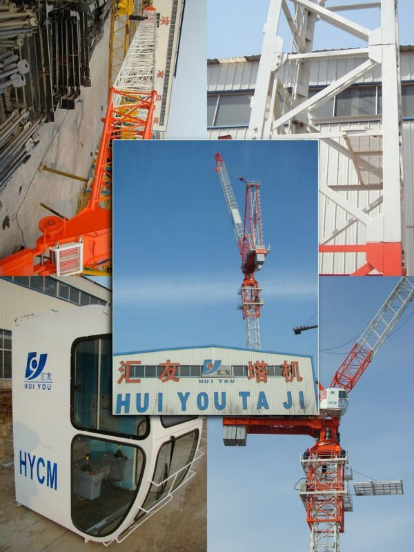 QTD160 12t luffing tower crane Industrial and Building luffing tower crane manufacturers/tower crane