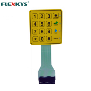 Customized IP64 UV resistance Numeric Membrane Switch Keypad With Led Lights