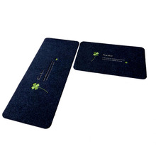 Dust Control Polyester Non Slip Floor Protection Mat For Kitchen Use