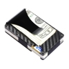 Amazon Hottest! Slim Carbon Fiber Credit Card Holder RFID Blocking Metal Wallet Money Clip Case