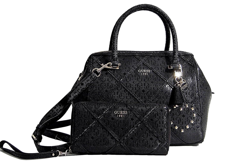 Get Quotations · Guess Women s Frame Satchel Bag Handbag   Wallet Set 580fe0e6ad93f