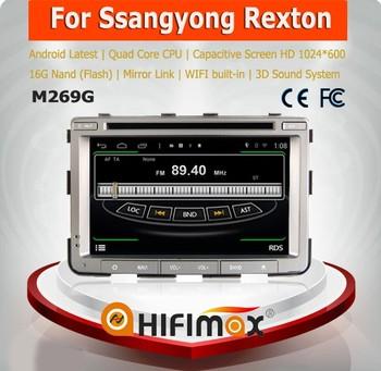hifiamx voiture dvd gps pour ssangyong rexton voiture audio vid o syst me de navigation de. Black Bedroom Furniture Sets. Home Design Ideas