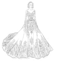 2019 New Design bridal gowns Removable Skirt high-end customized wedding Dresses For Wedding