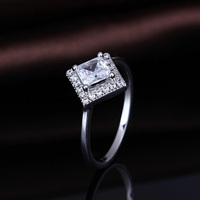 Hot fashion 925 silver cz diamond engagement ring for women