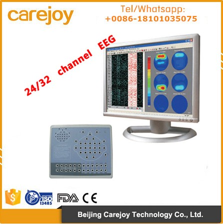 CE approved electroencephalogram 24 or 32 Channel Digital EEG machine mapping machine for Neurology