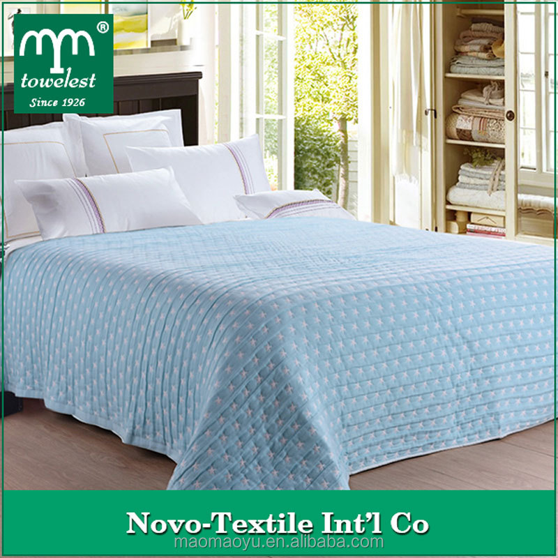 Hot selling!! China Supplier Wholesale Cotton Stars Pattern Soft and Comfortable Blanket, Bedding Sheeting