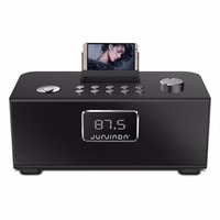 Portable Bluetooth Speakers Stereo 20W Speaker Subwoofers Wireless Speaker with Alarm Clock and USB Charging Port 10000mA