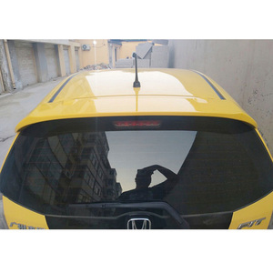ABS Plastic Unpainted Color Rear Roof Spoiler Tail Trunk Boot Lip Wing For Honda Fit Jazz 2008 2009 2010 2011 2012 2013