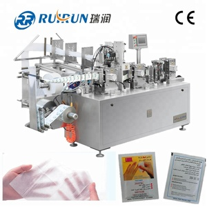 Cheap prices automatic hand wipes machine ,cleansing wet wipes machine, phone wipes making machine