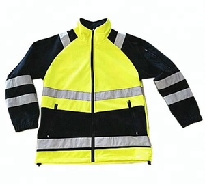 Hi Vis Work Wear Uniform Fleece Jacket Safety Reflective Clothing