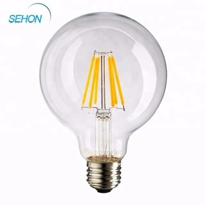 Factory Price Globe g125 Led Filament Bulb Amber/Frosted/Clear Dimmable e27 4w