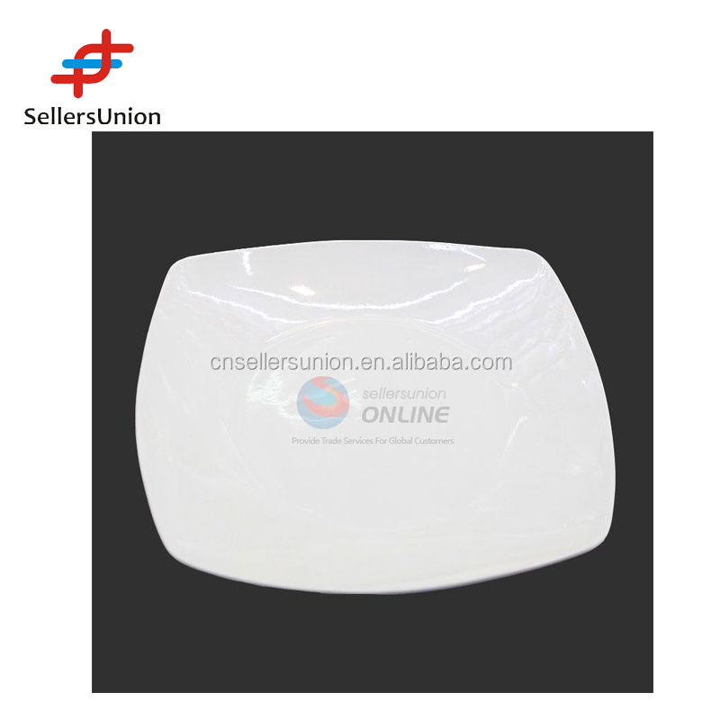No1 yiwu export commission agent 2017 Yiwu agent new 7inch high quality porcelain square shaped dish dinner plate