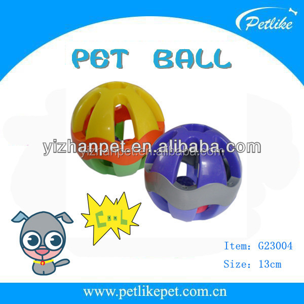 pet cat kitten play balls with jingle bell pounce chase rattle toy Dog pet customized packaging durable toys free samples