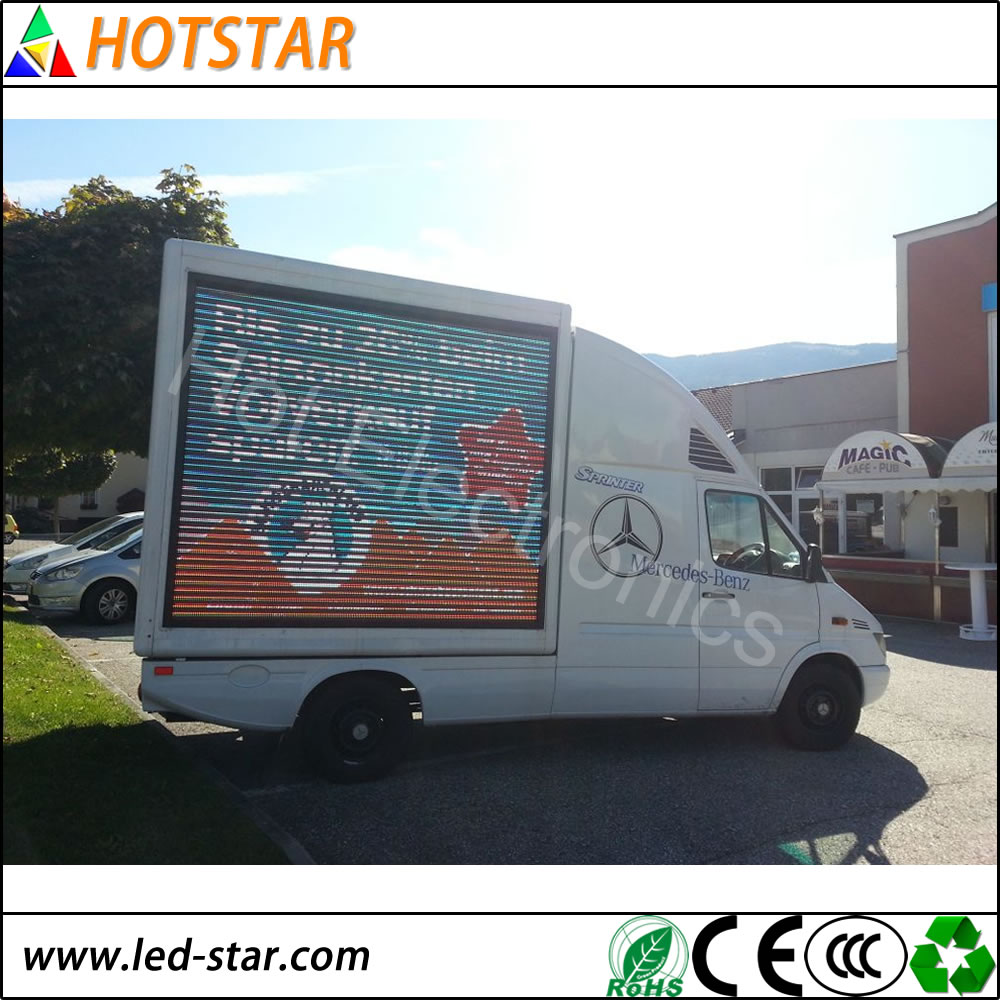 waterproof Digital Billboard truck mobile advertising display led for sales